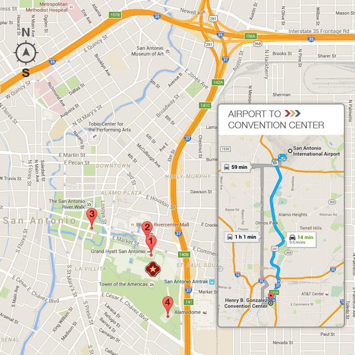 Convention Center > Visit Us > Location, Directions & Parking